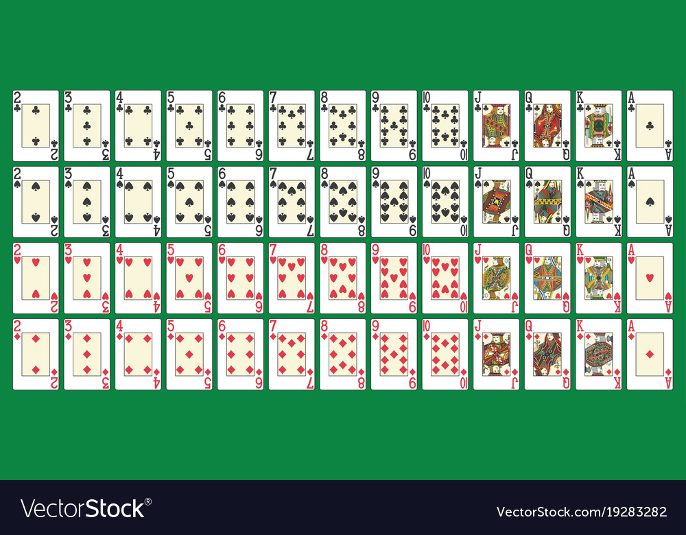 Full poker deck vector image