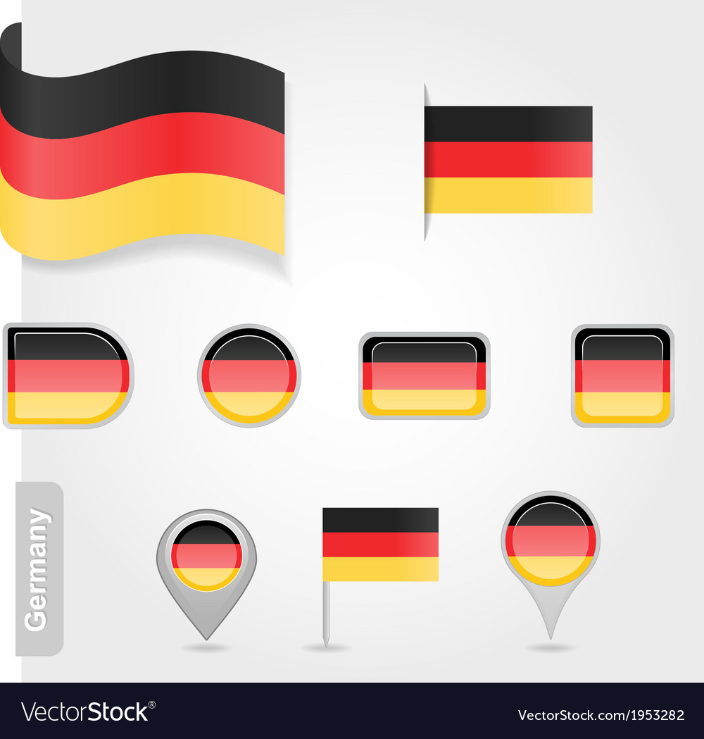 Germany icon set of flags