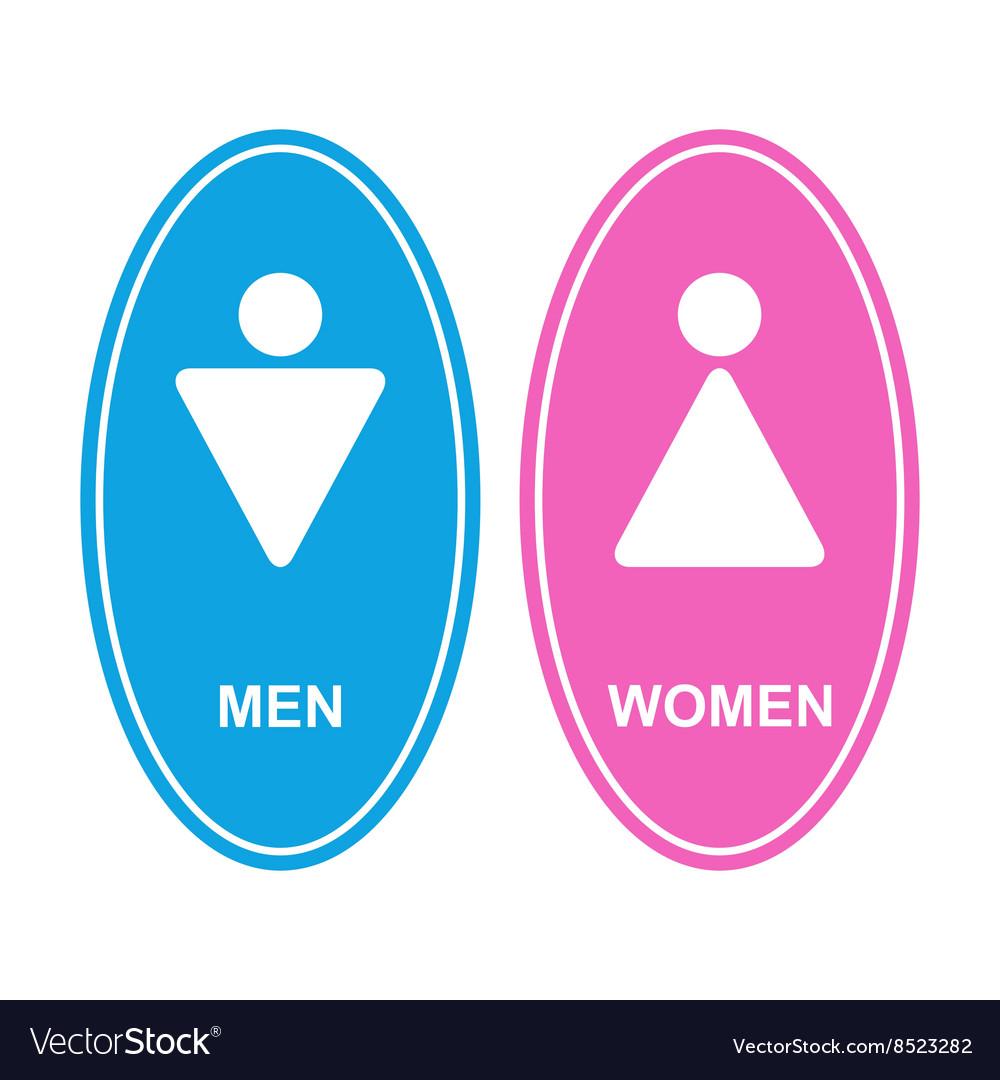 Men and women white sign