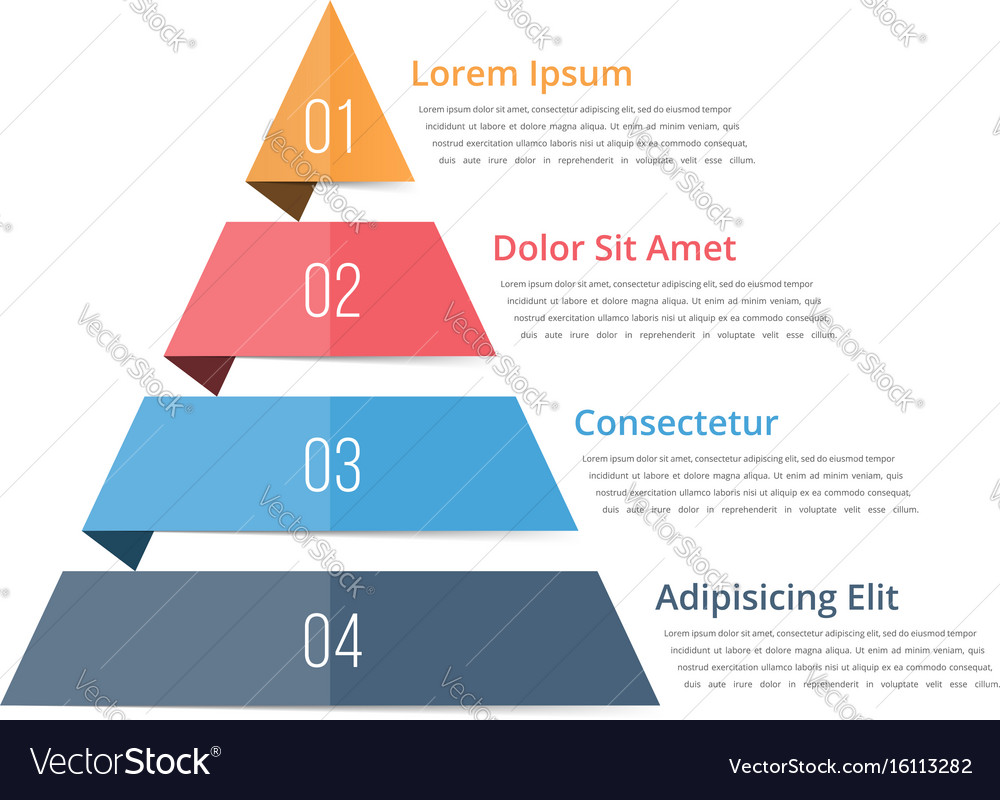 Pyramid chart template vector image