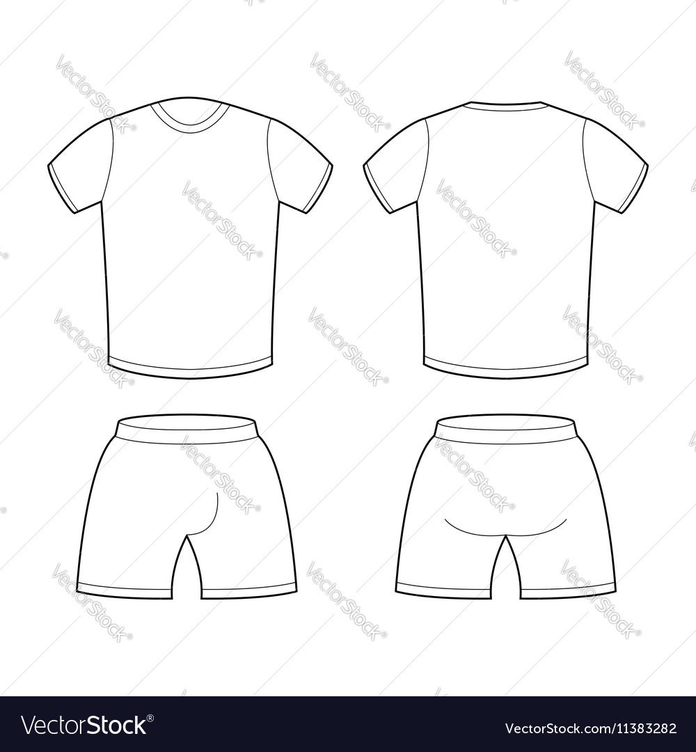 t shirt and shorts template for design sample for vector image