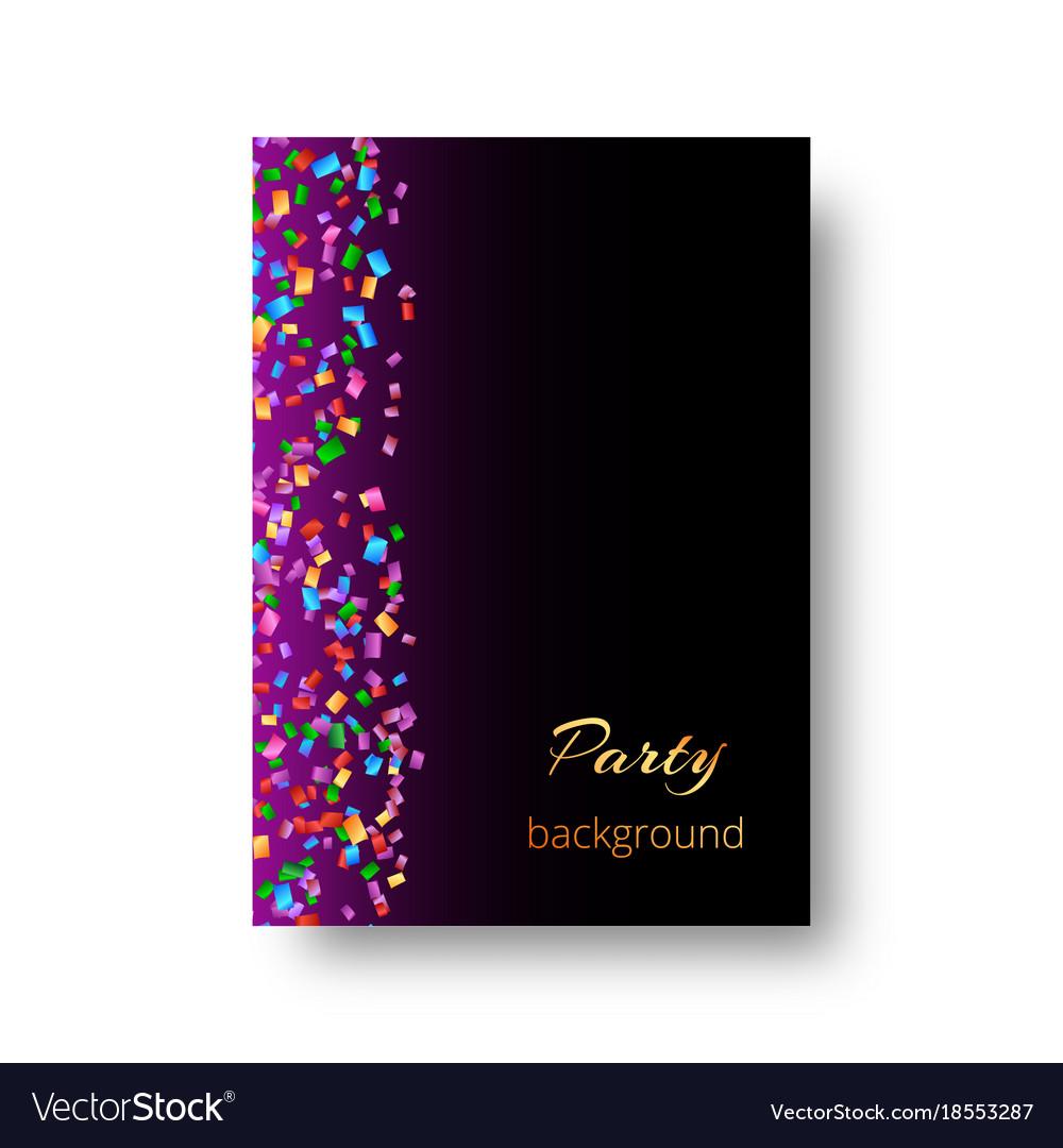 Birthday invitation template with confetti Vector Image