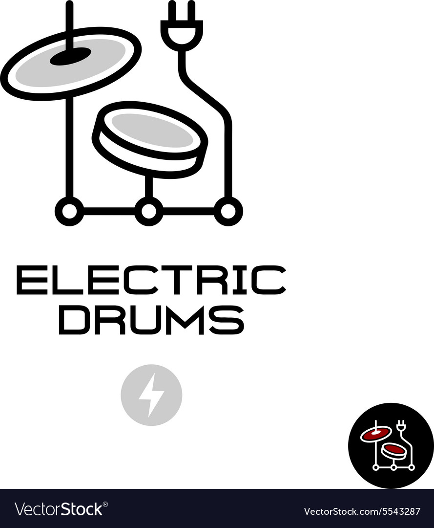 Electronic drums sign