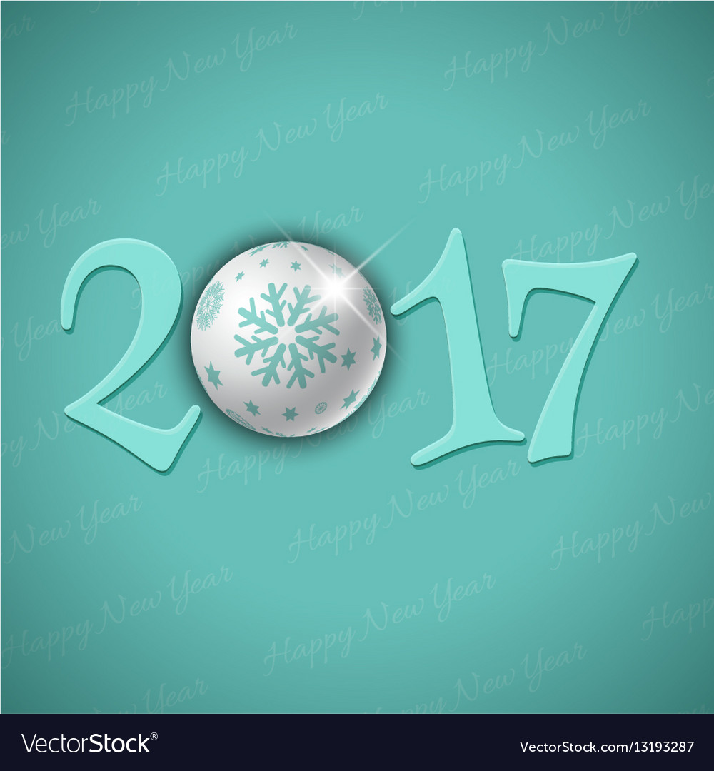 Happy new year bauble background 0311