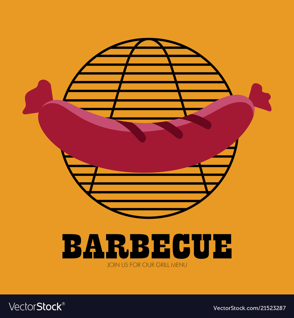Isolated bbq poster