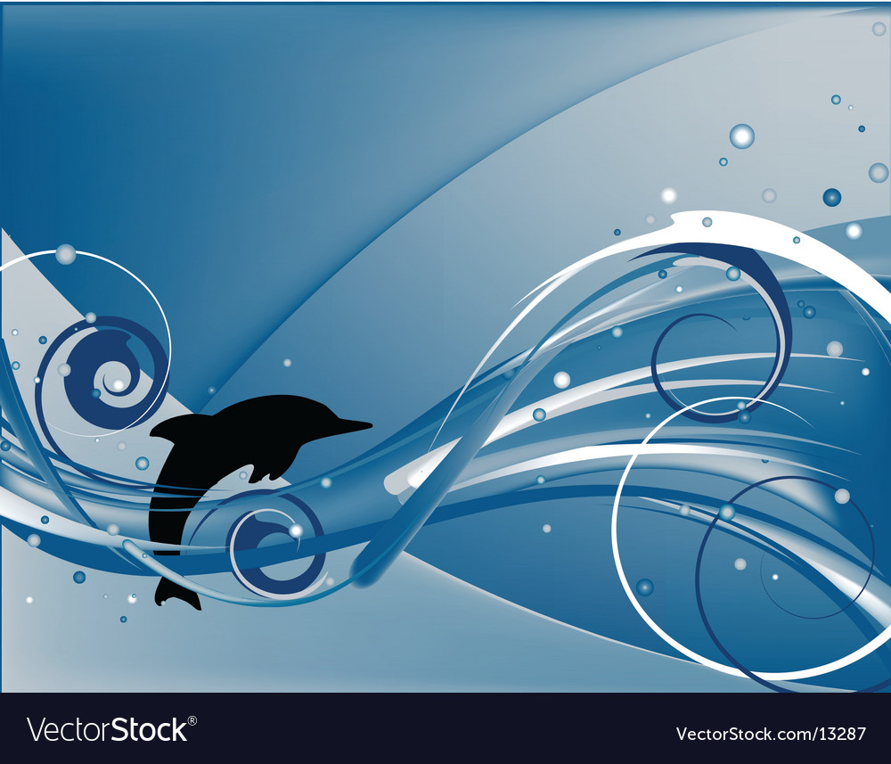Jumping dolphin vector image