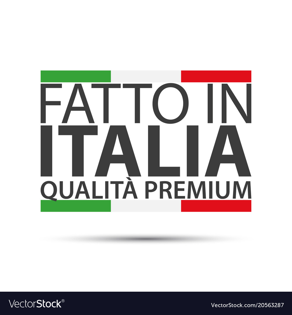 Made in italy premium quality simple symbol