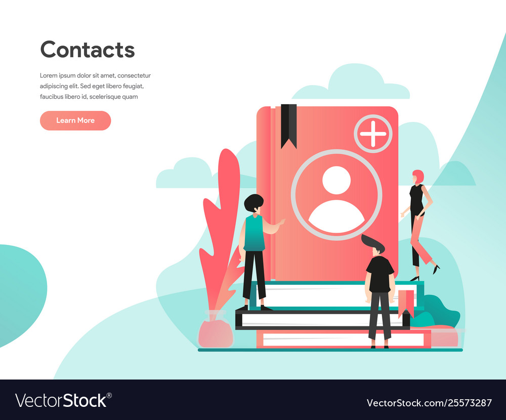 Phone contacts concept modern flat design