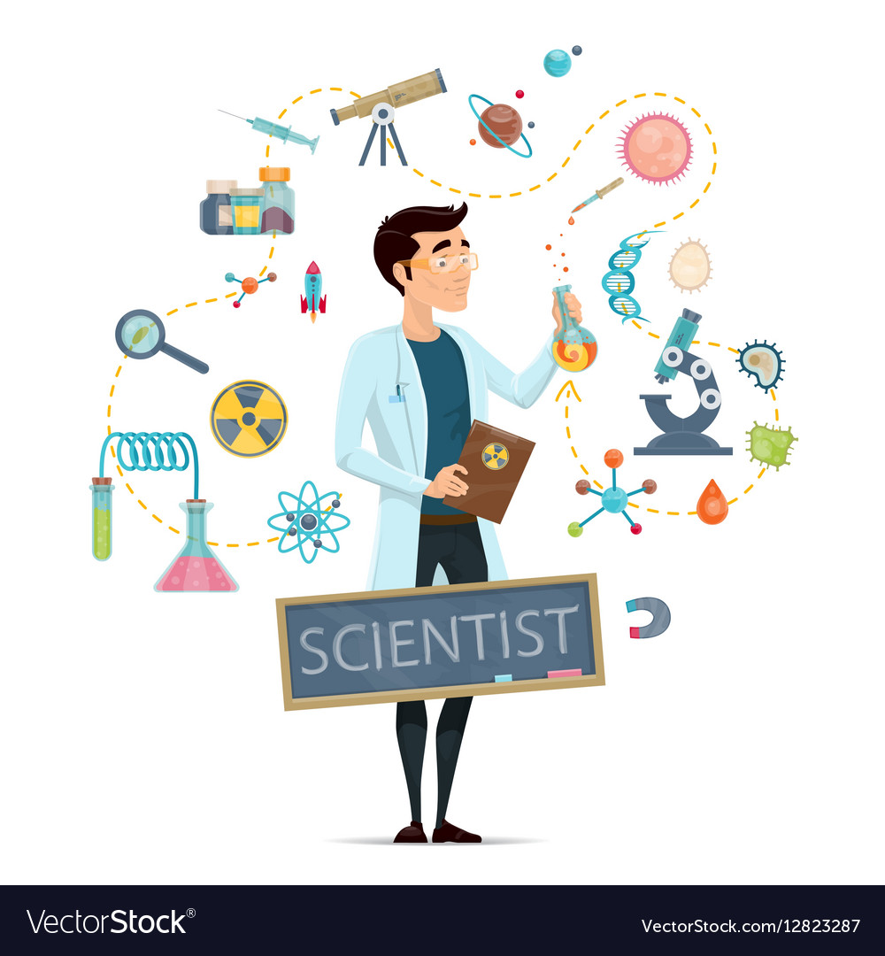 Science Round Template vector image