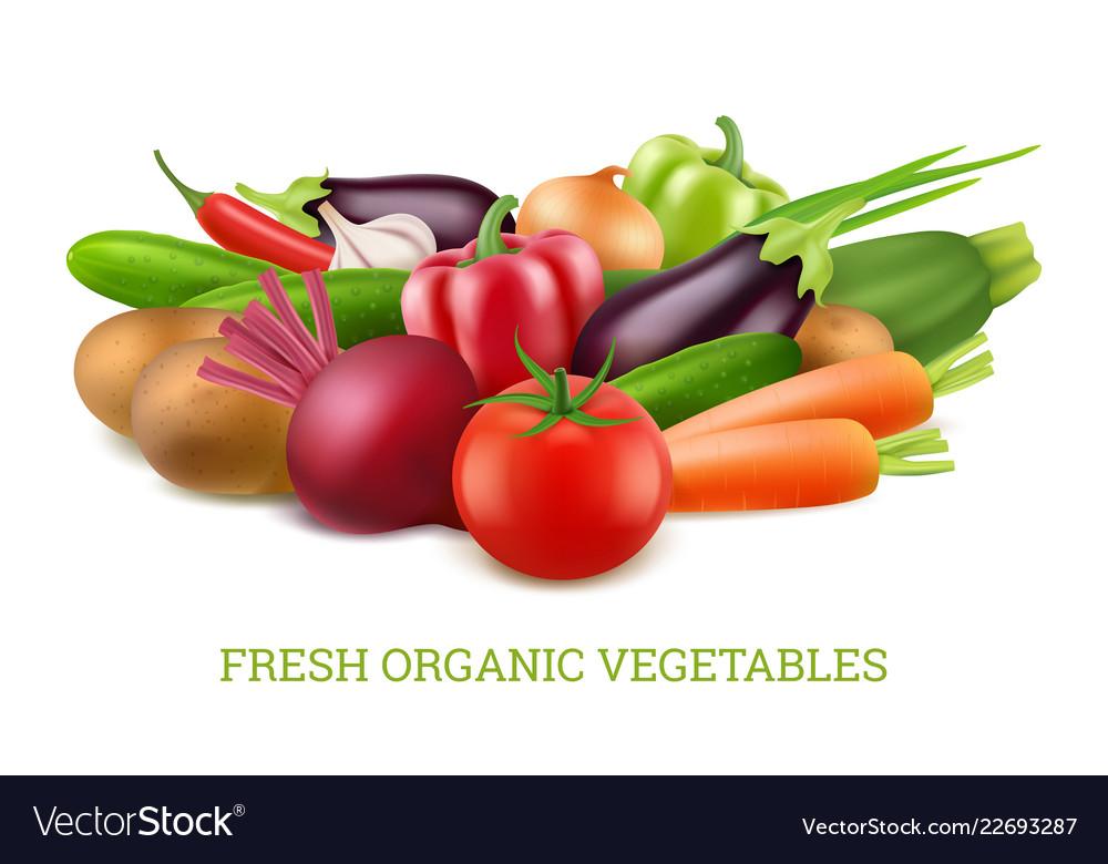 Vegetables collection 3d organic vegan healthy