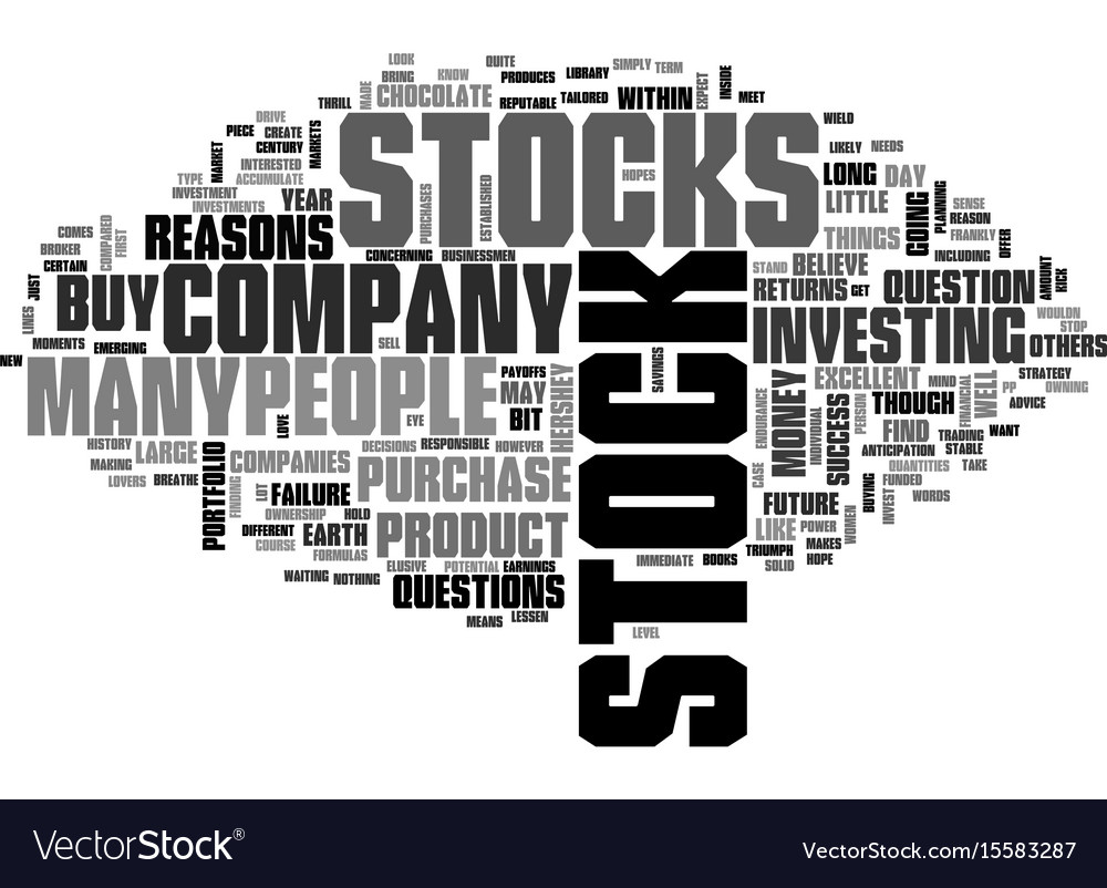 Why buy stock text word cloud concept