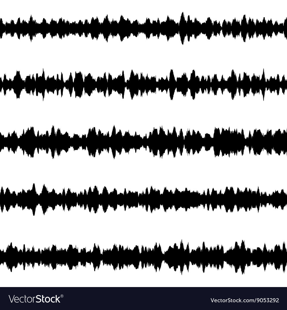 Black music sound waves EPS 10