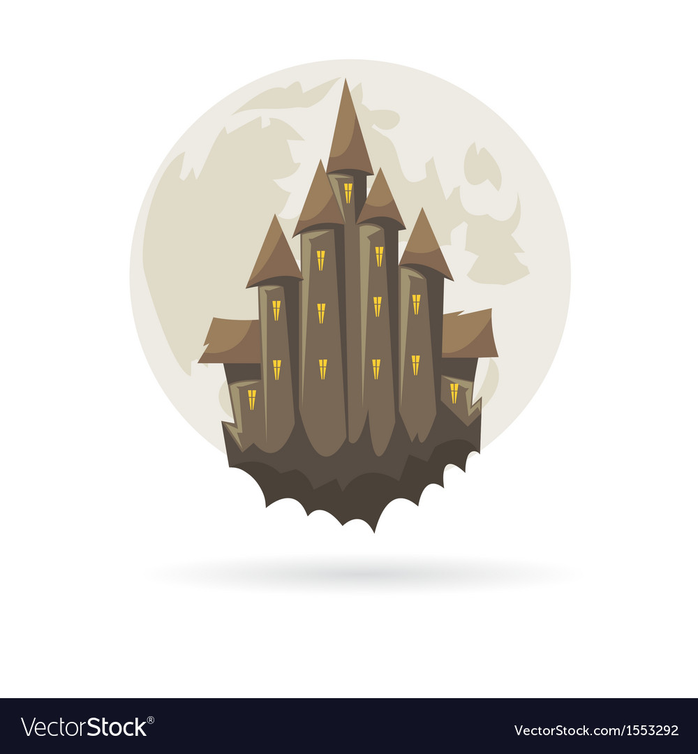 Castle with a moon isolated vector image