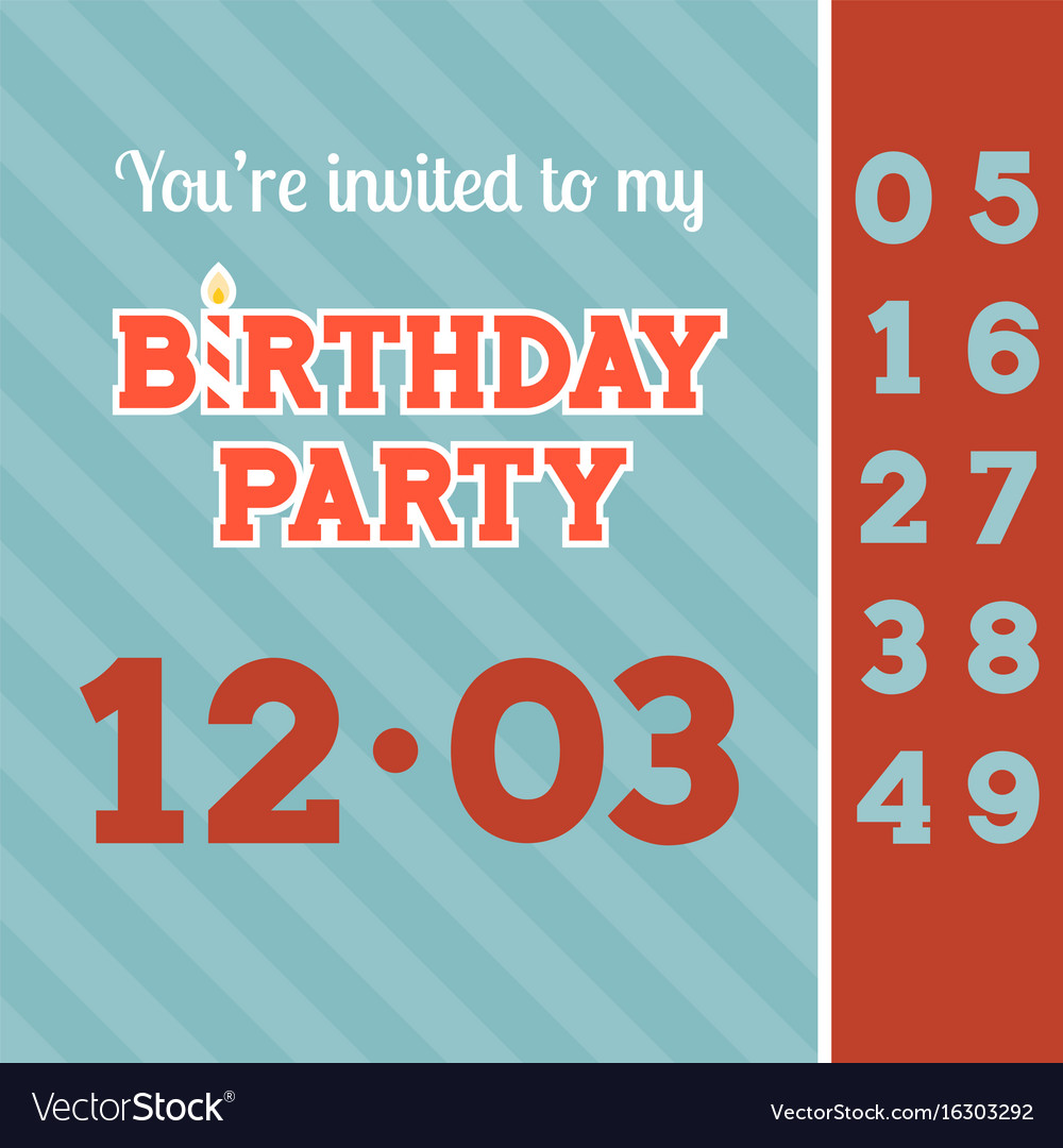 Invitation birthday party card template