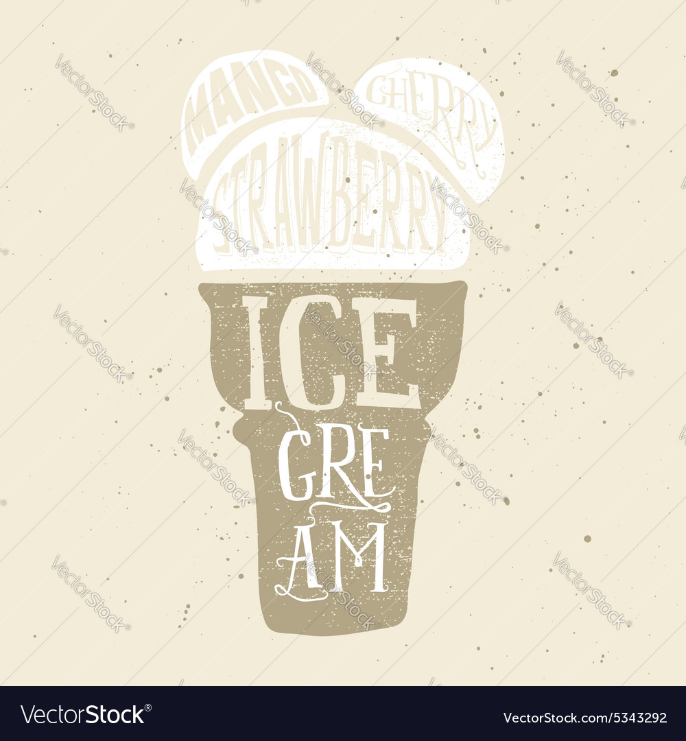 Print for t-shirts ice cream Poster for a cafe