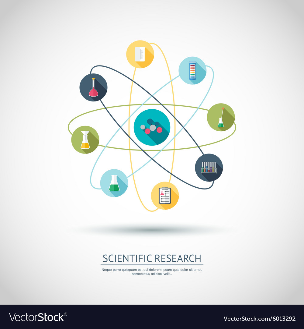 Scientific research concept Chemical banner