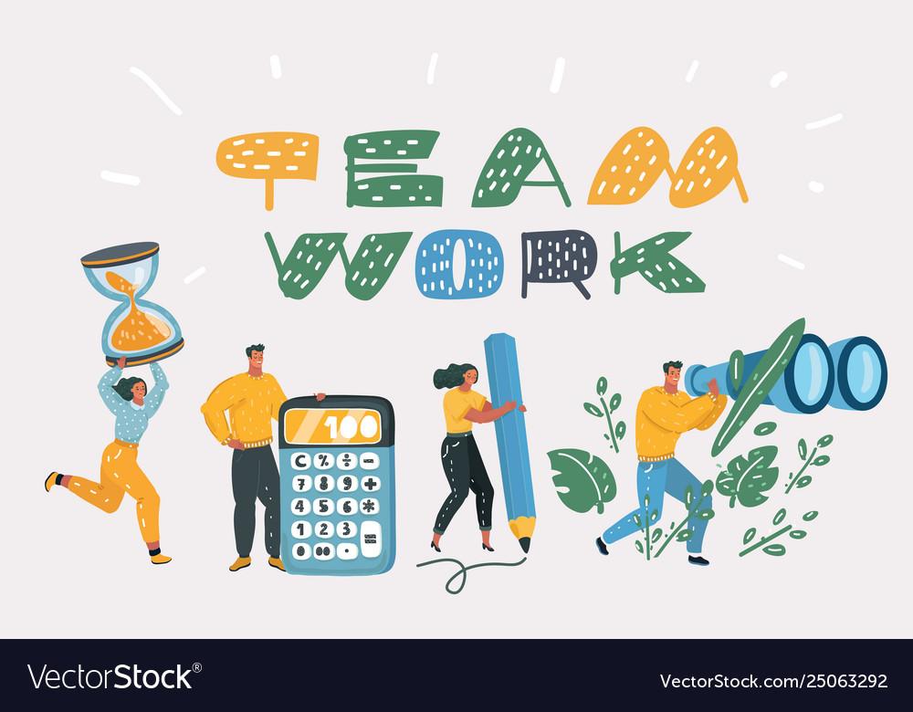 Team coworking people