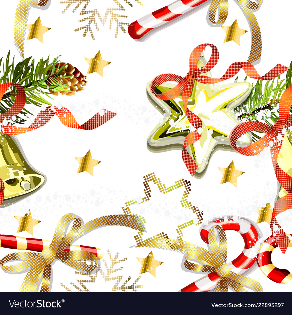 Christmas elements seamless pattern background