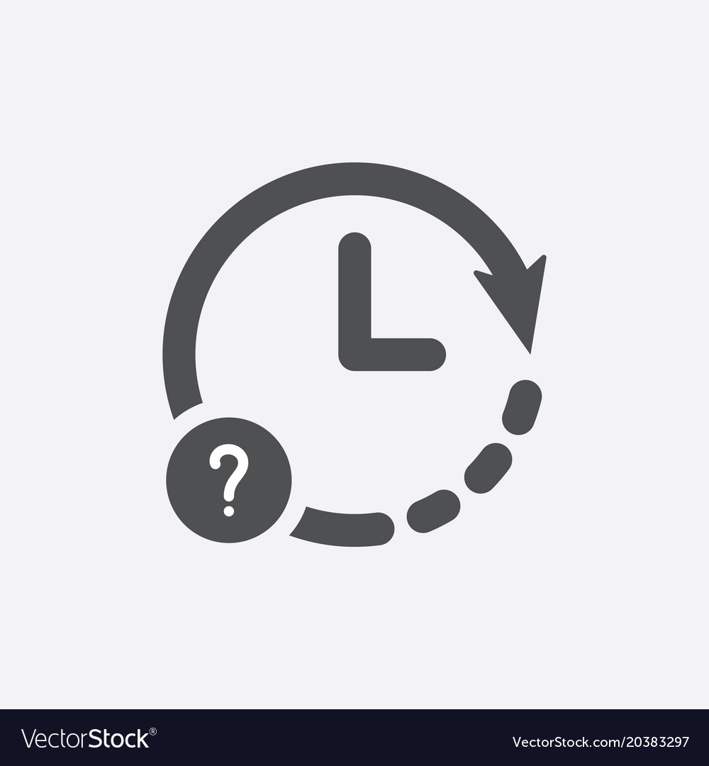 Clock icon with question mark