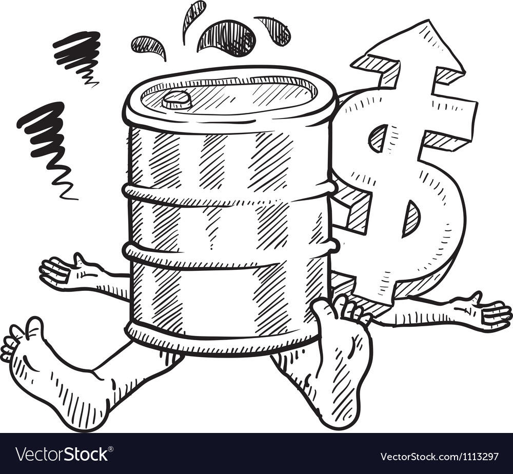 Doodle squish oil barrel vector image