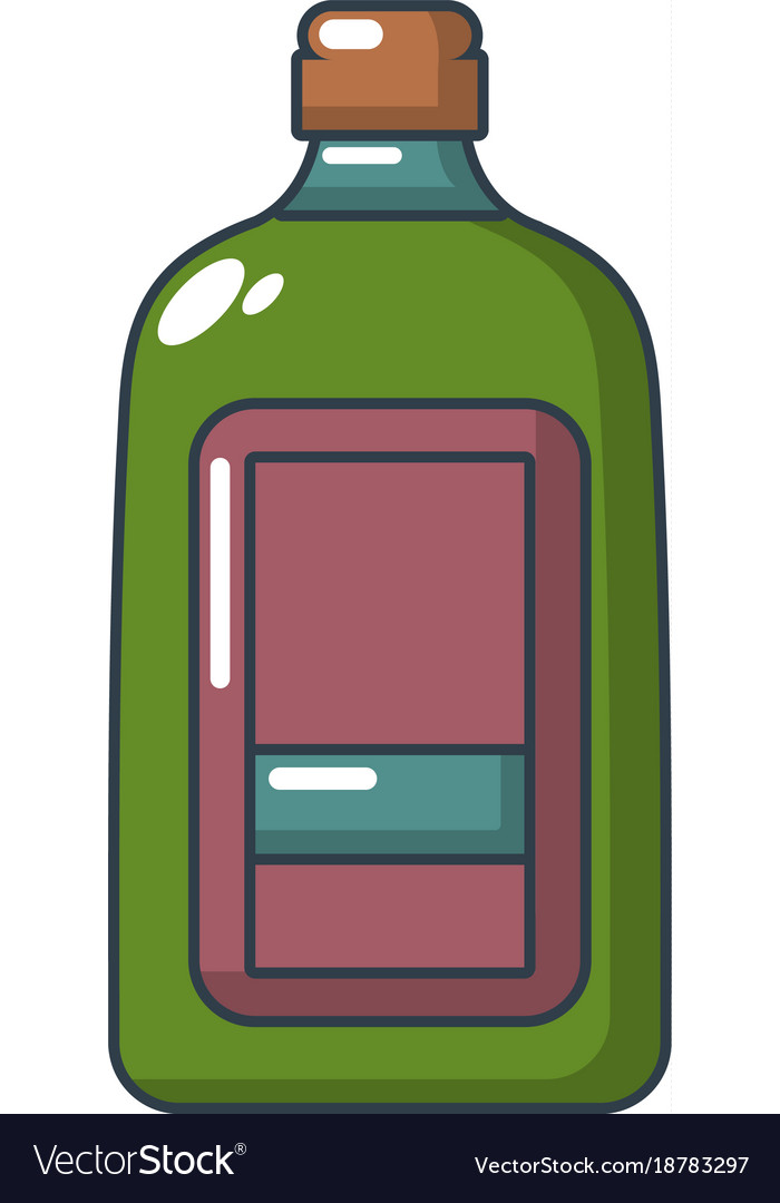 Flat bottle icon cartoon style