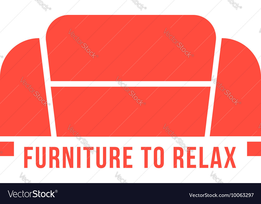 Furniture to relax with red sofa vector image
