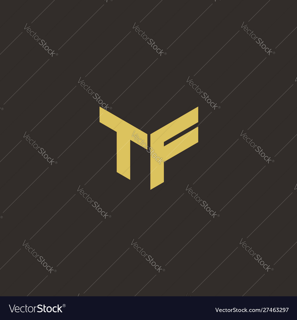 Tf Logo Letter Initial Logo Designs Template Vector Image