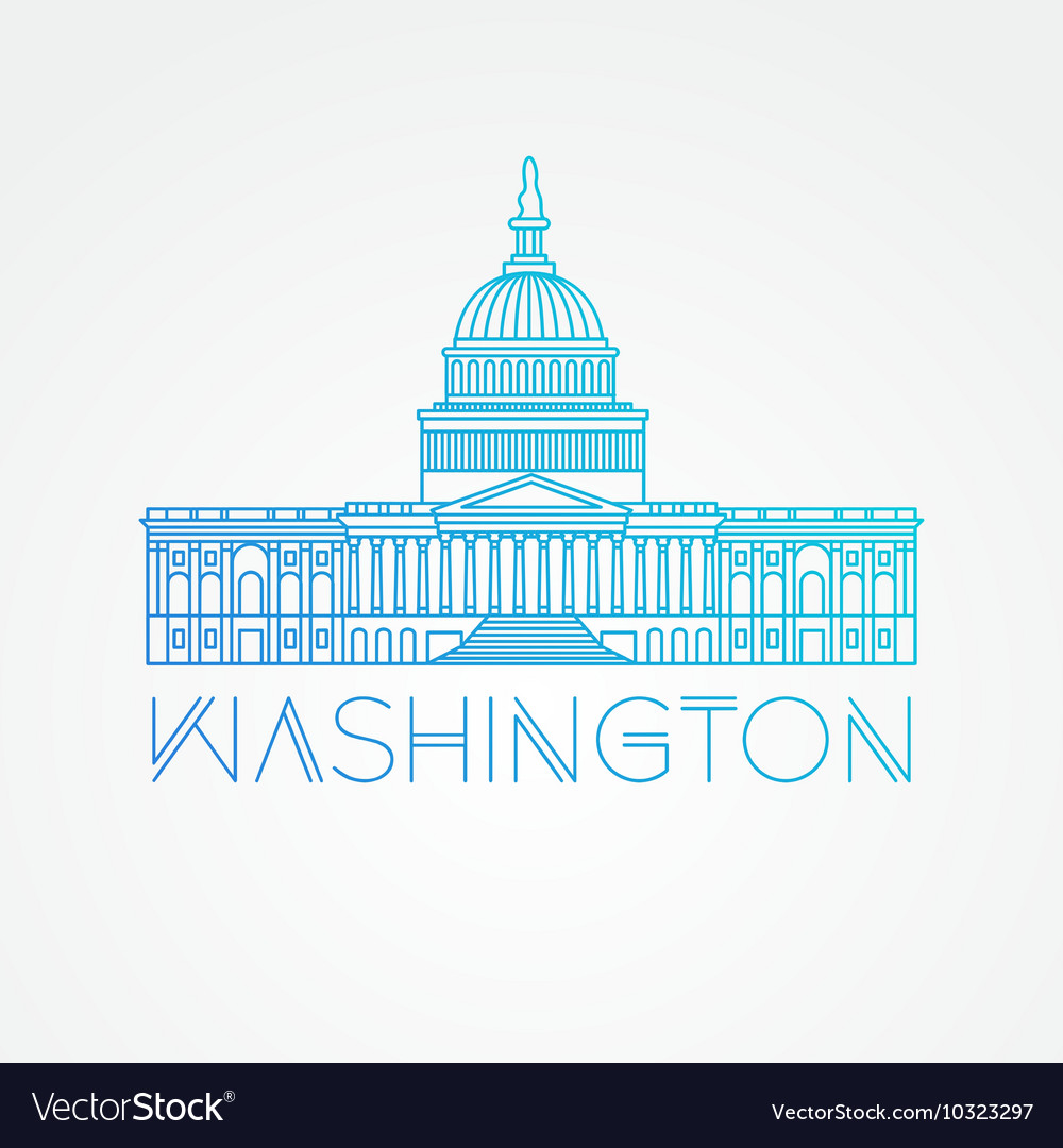 washington dc us capitol building royalty free vector image rh vectorstock com capitol building dc vector capitol building dc vector