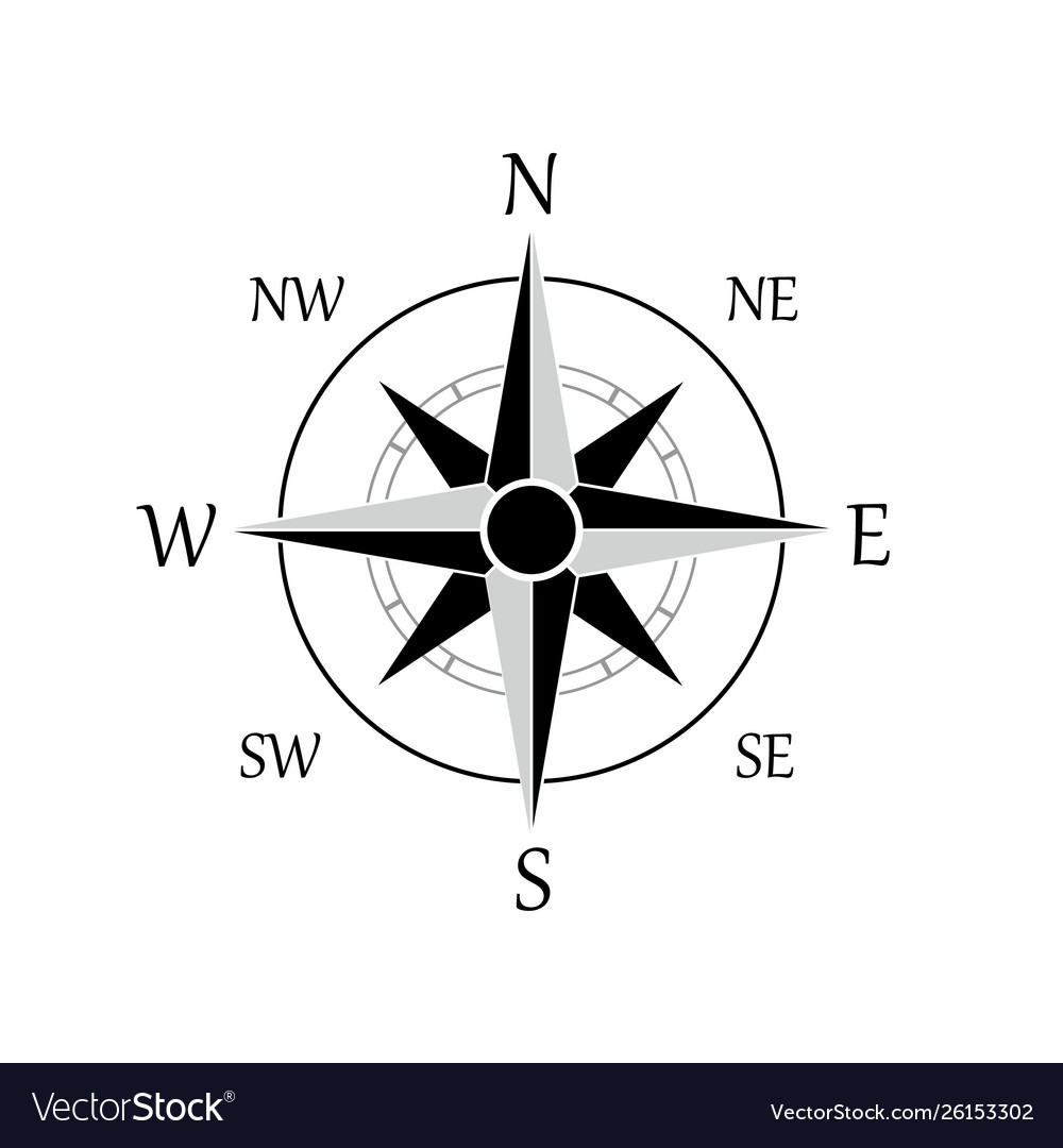 A compass rose icon eps 10