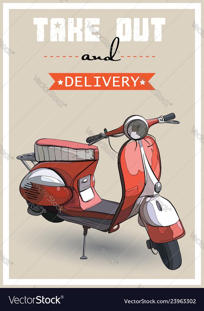 A retro scooter
