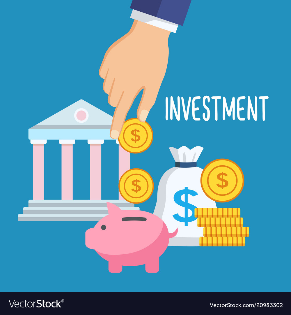 Investment money saving vector image