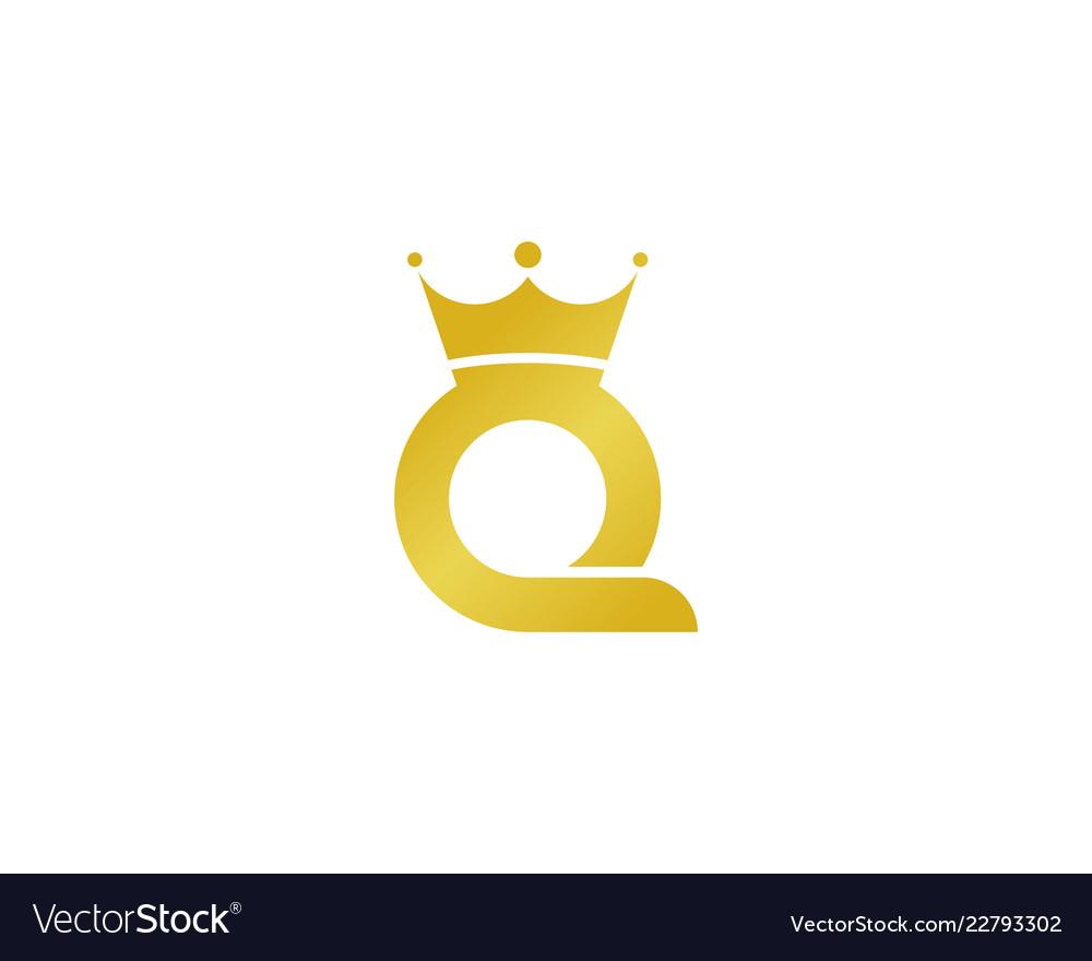 King letter q logo icon design