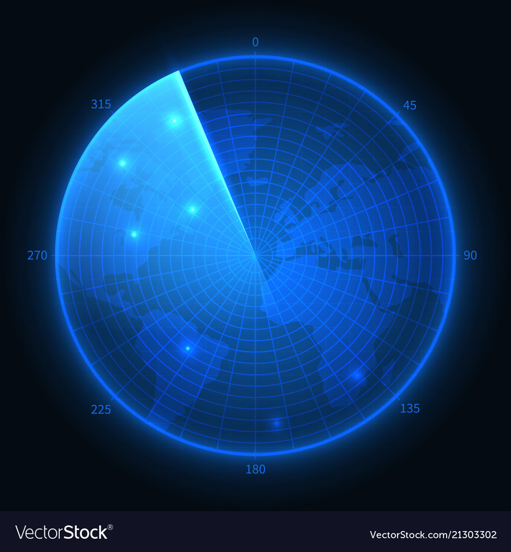 Radar screen military blue sonar navigation