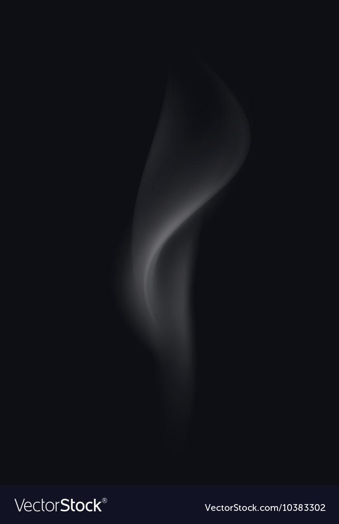 Realistic White Transparent Cigarette Smoke Waves