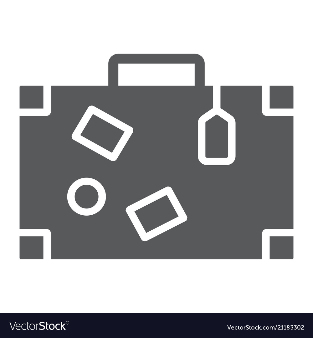 Travel bag glyph icon travel and tourism