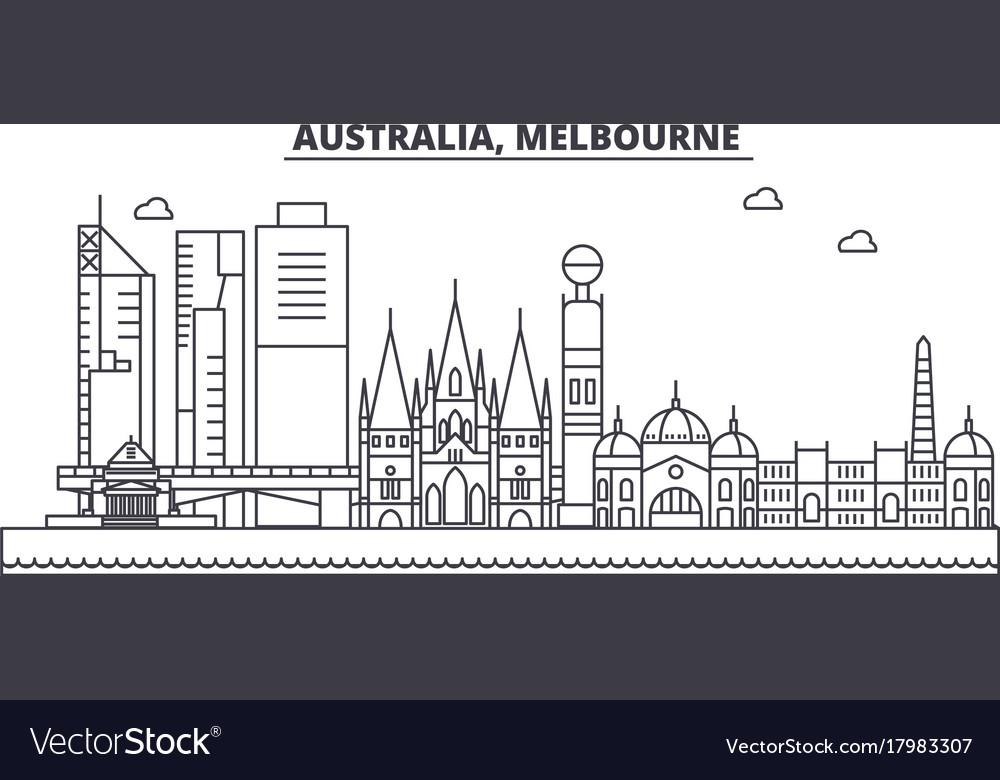 Australia melbourne architecture line skyline
