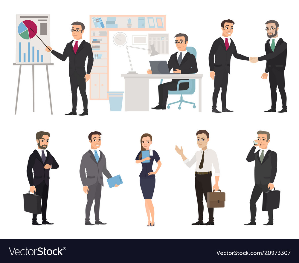 Business team of employees