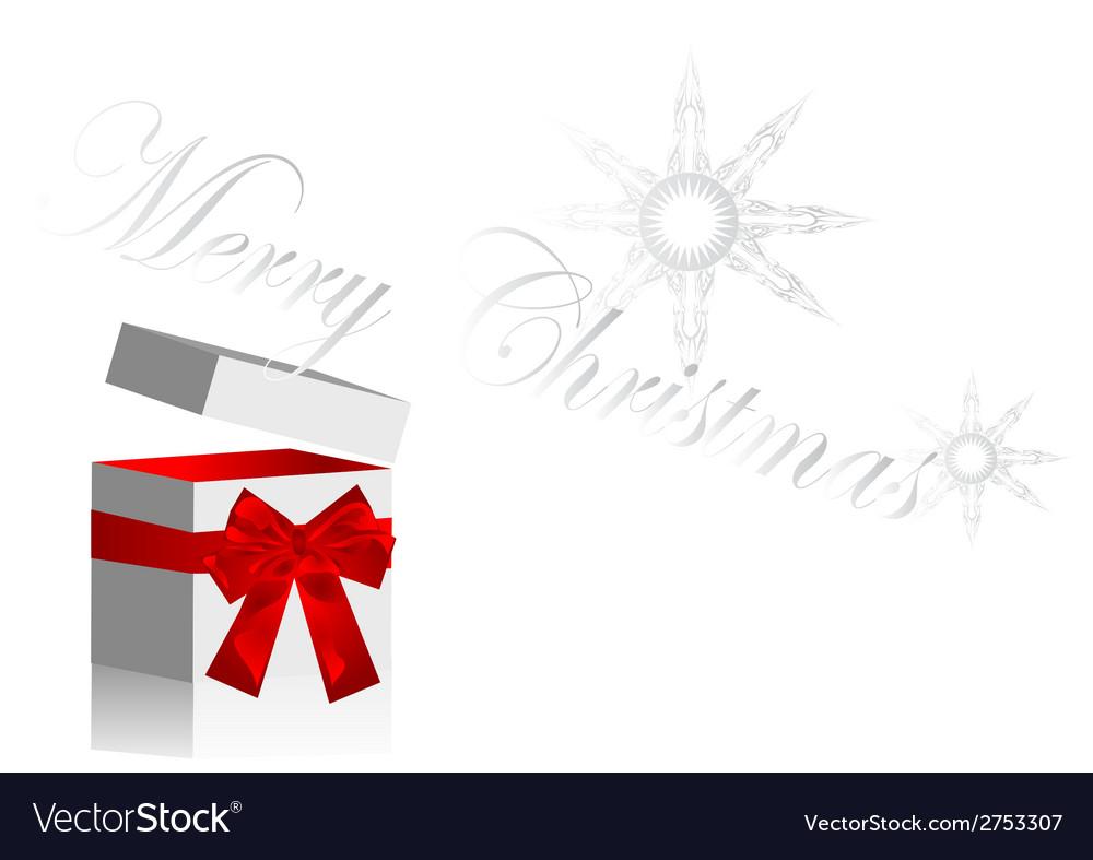 Christmas opened gift vector image