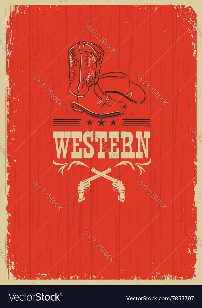 Cowboy western red background for design