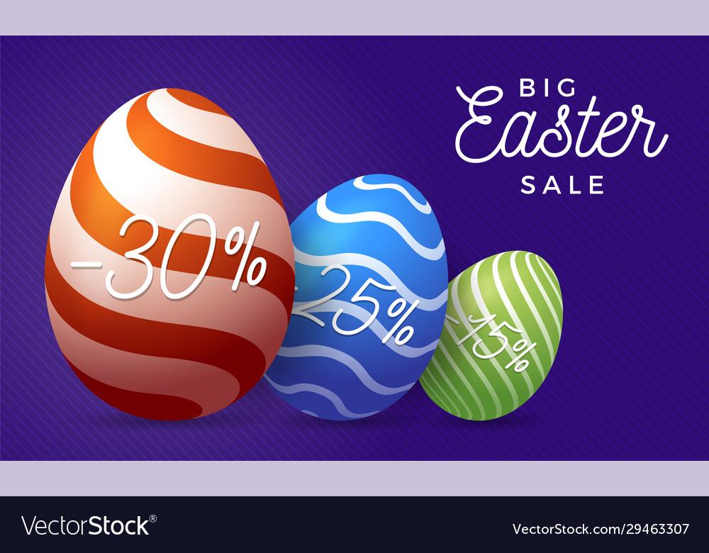 Easter egg sale horizontal banner easter card