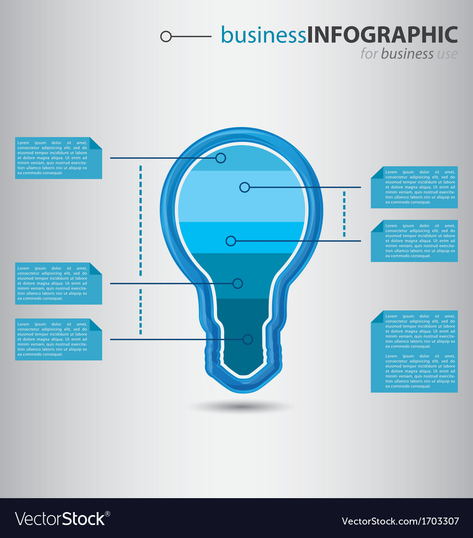 Modern high-tech bulb info graphic Royalty Free Vector Image