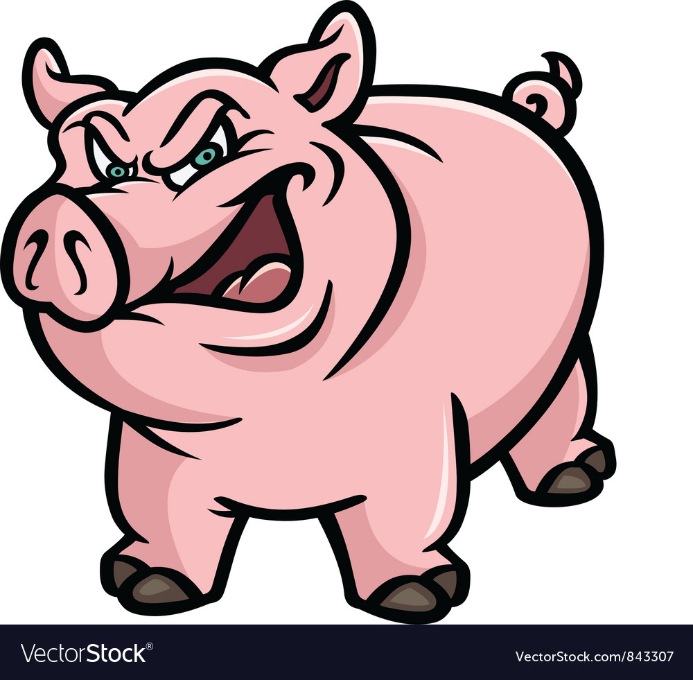 pig mean royalty free vector image vectorstock rh vectorstock com pig vector outline pig vector silhouette