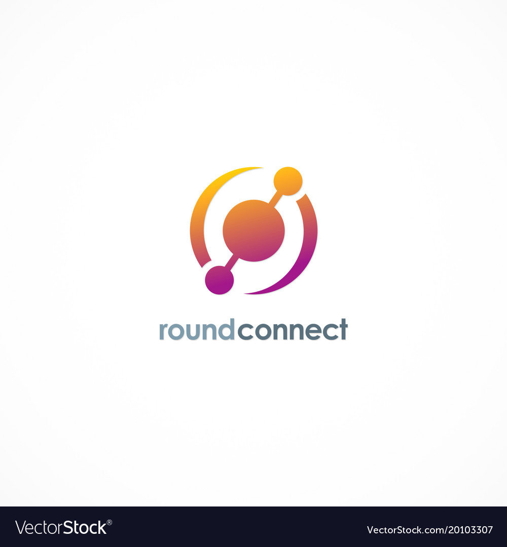Round connect technology logo
