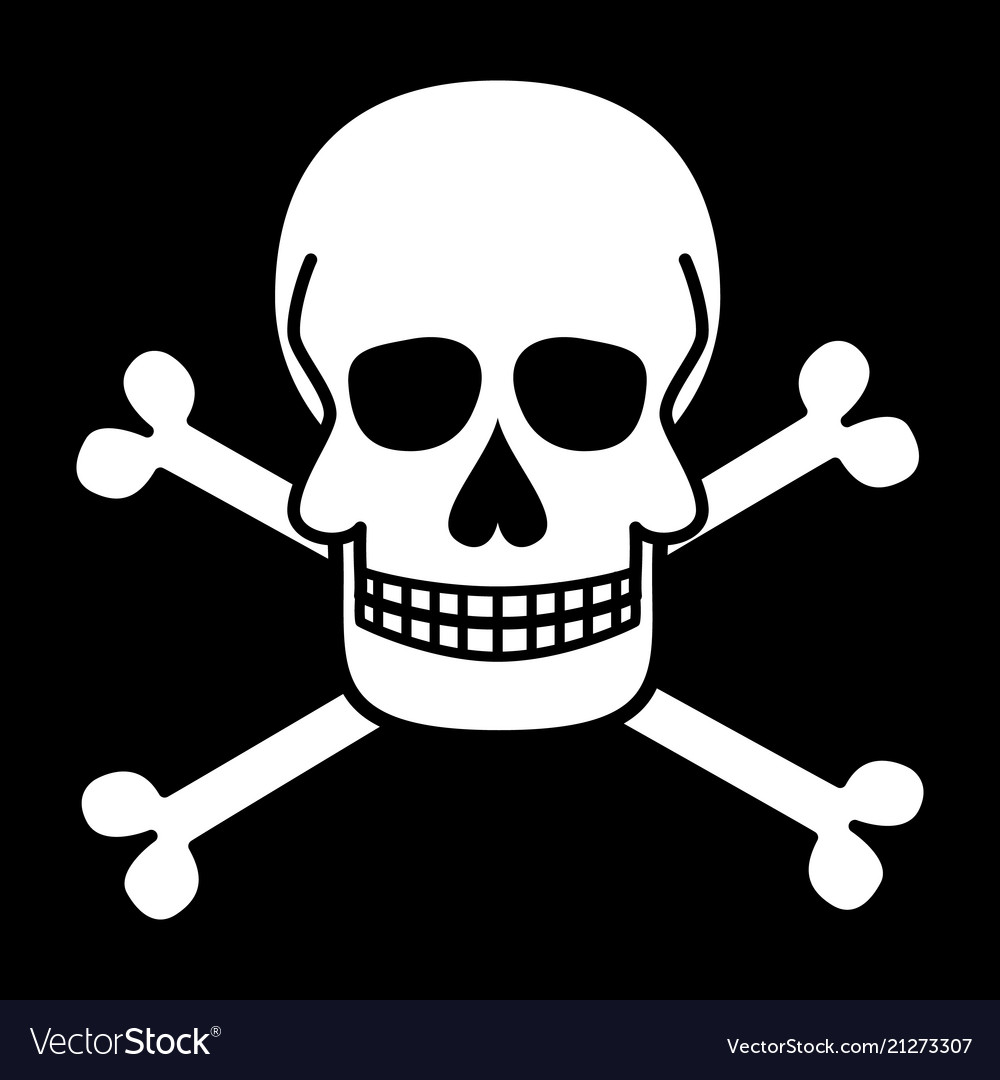 Skull And Crossbones Jolly Roger Pirate Symbols Vector Image