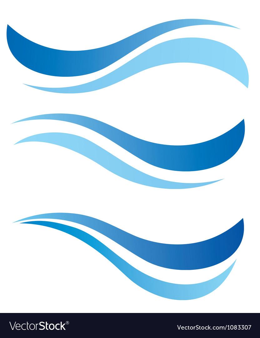 Water waves design elements