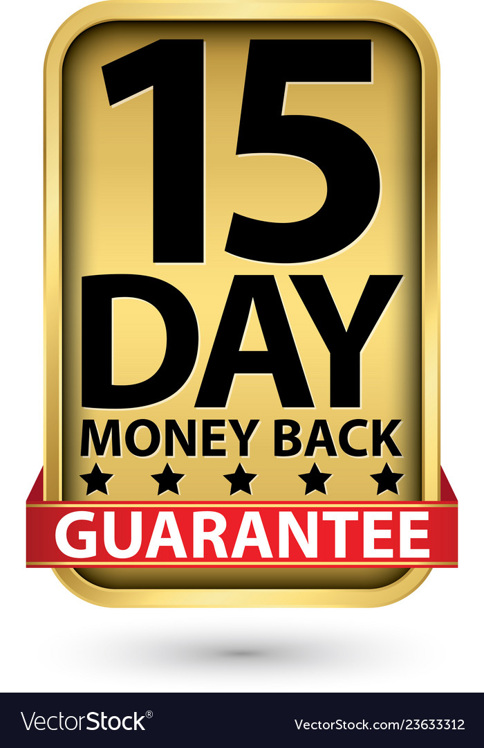 15 day money back guarantee golden sign