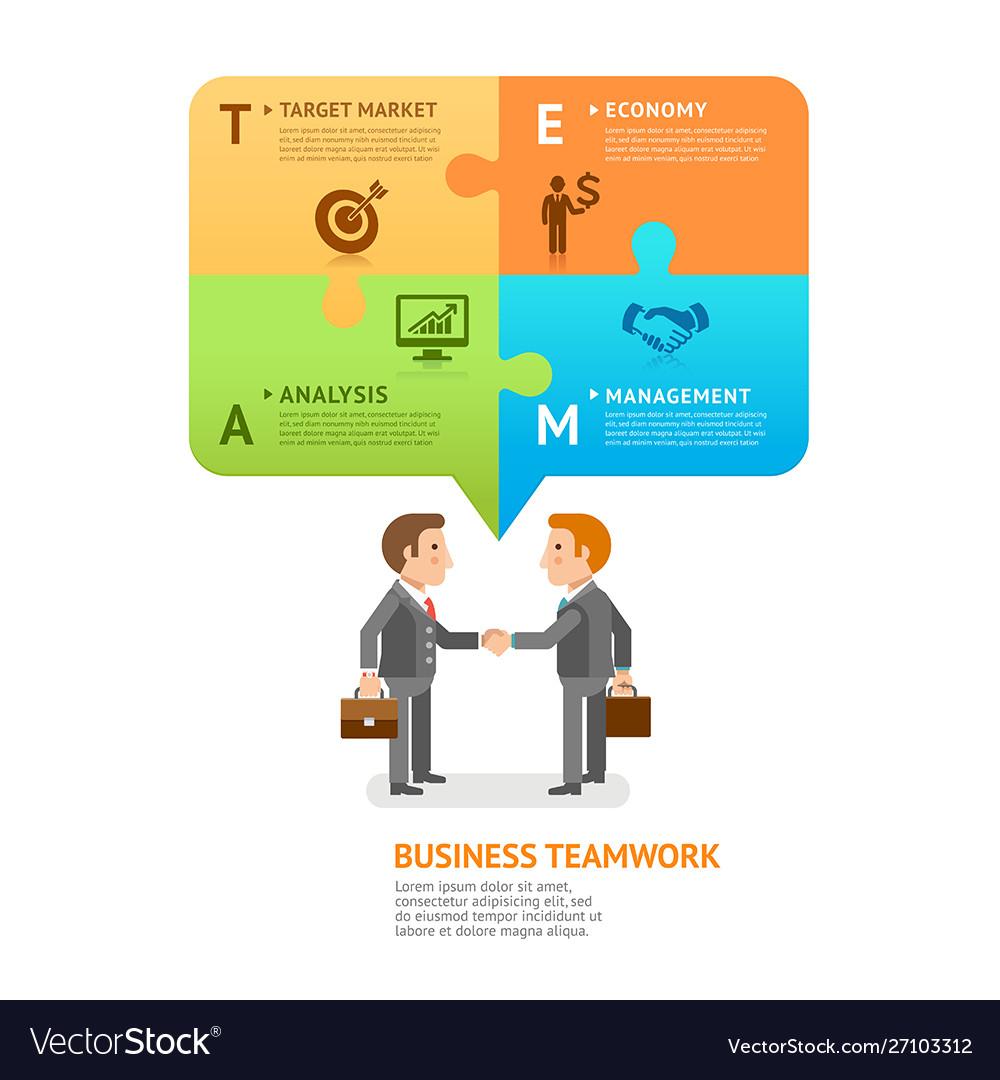 Business teamwork with speech bubble