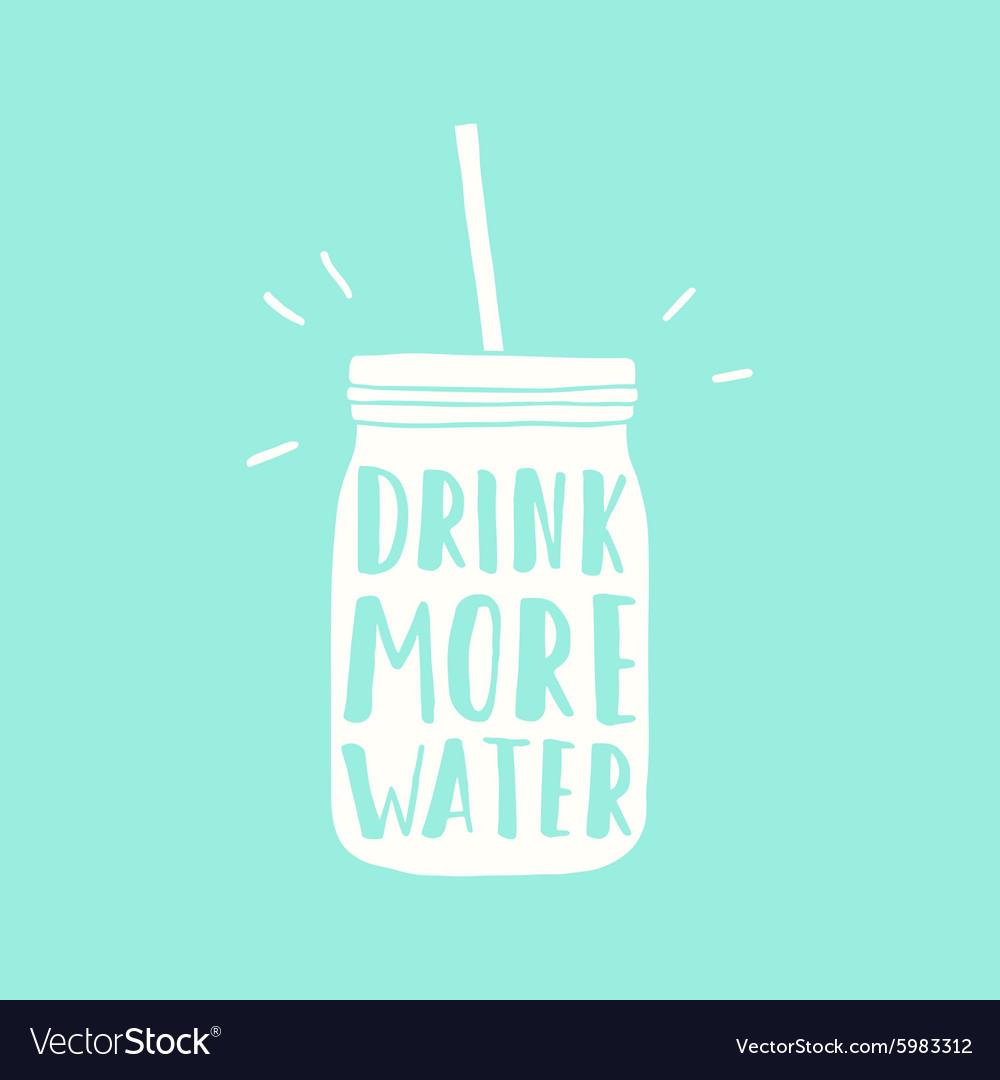 Drink more water jar silhouette