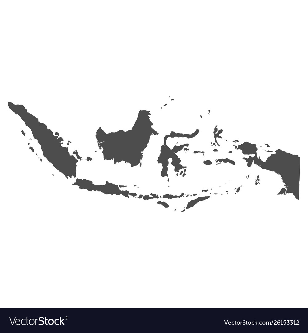 High quality map indonesia with borders the