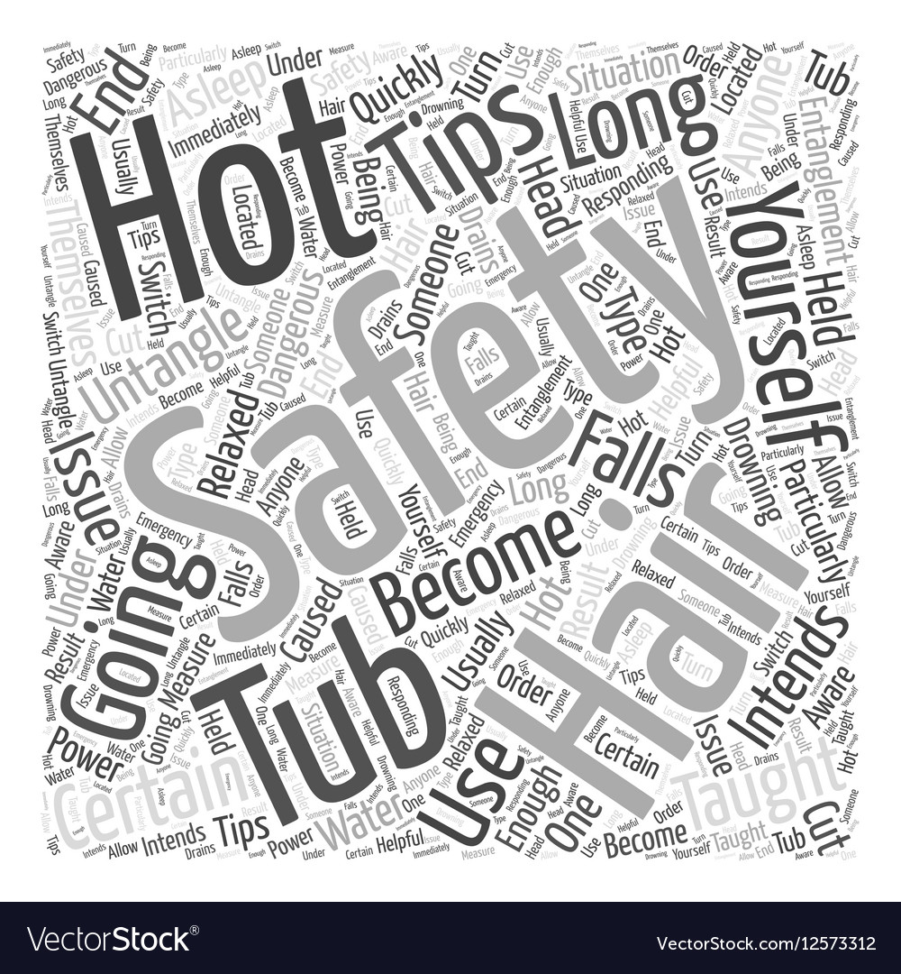 Hot Tub Safety Tips Word Cloud Concept Royalty Free Vector
